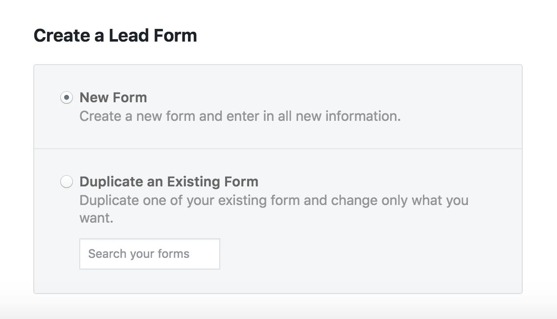 Create Lead Form