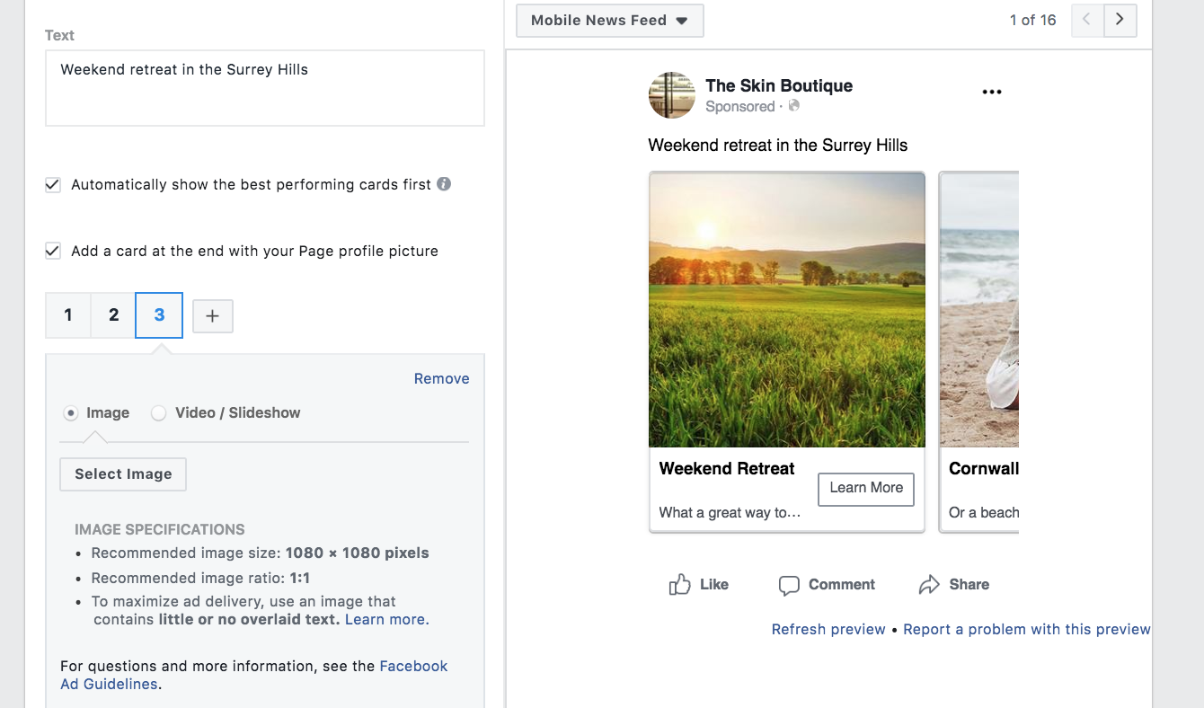 Facebook Carousel Ads: How to Set Them Up & Best Practices